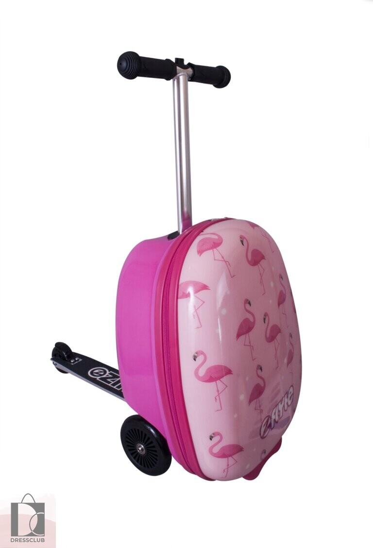 Чемодан-самокат Фламинго ZINC