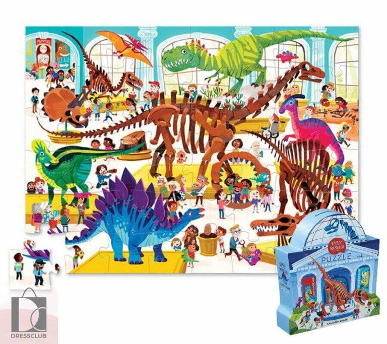 Пазл День в музее Динозавр, 48 шт.