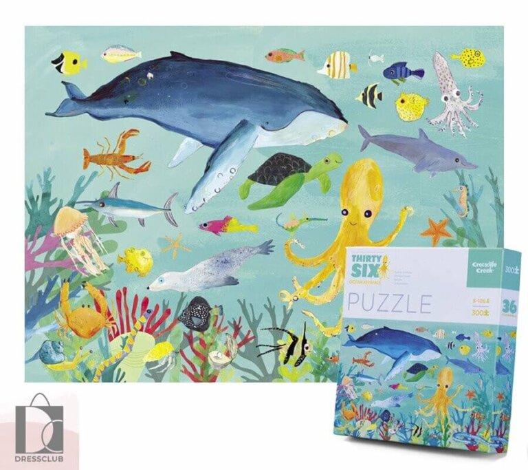 Пазл в коробке 36 Животных, Животные океана, 300 шт.