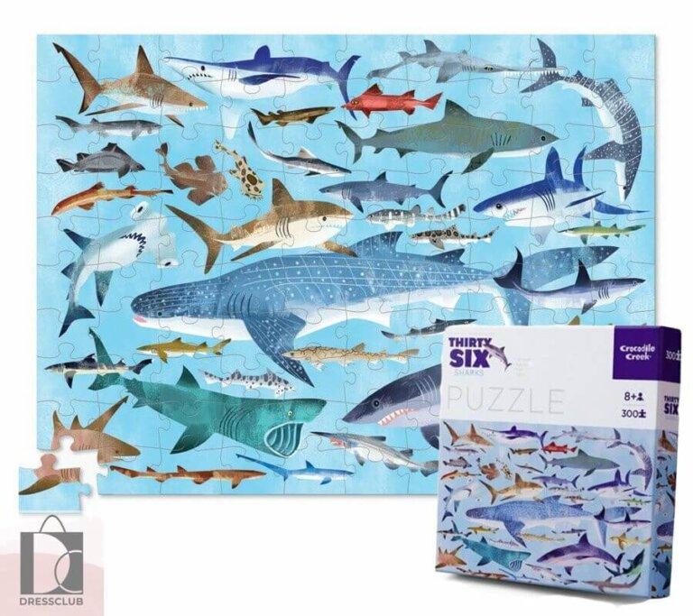 Пазл в коробке 36 Животных, Акулы, 300 шт.