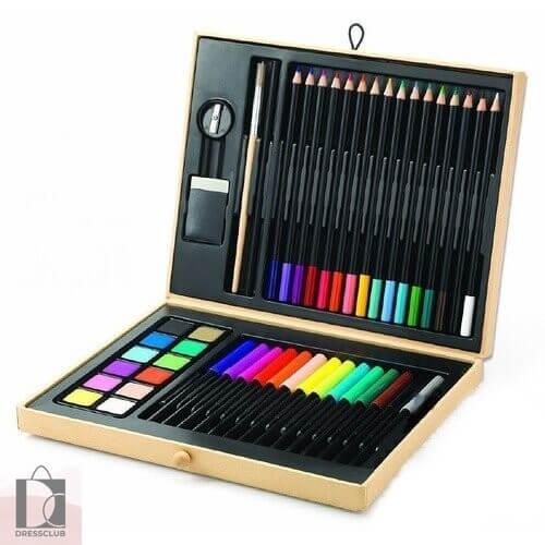 Малый художественный набор Djeco: карандаши, фломастеры, краски
