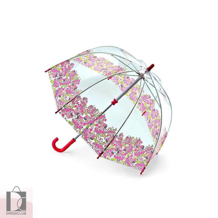 Fulton Зонт детский прозрачный C605-3044 FUNBRELLA (Цветы) механика