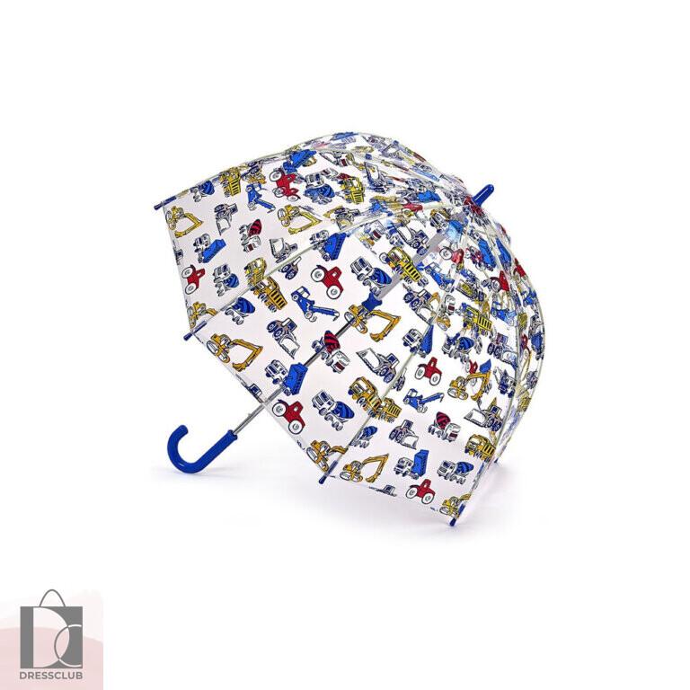Fulton C723-3574 Детский прозрачный зонт-трость (Экскаваторы) механика