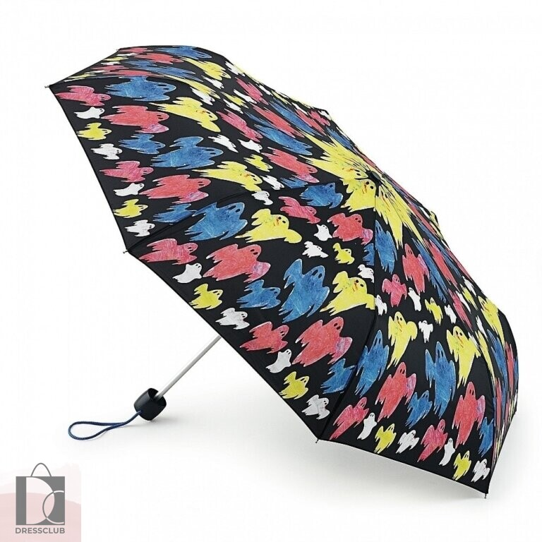Fulton E446-2450 Дизайнерский зонт «Призраки», механика, Simeon Farrar, Minilite