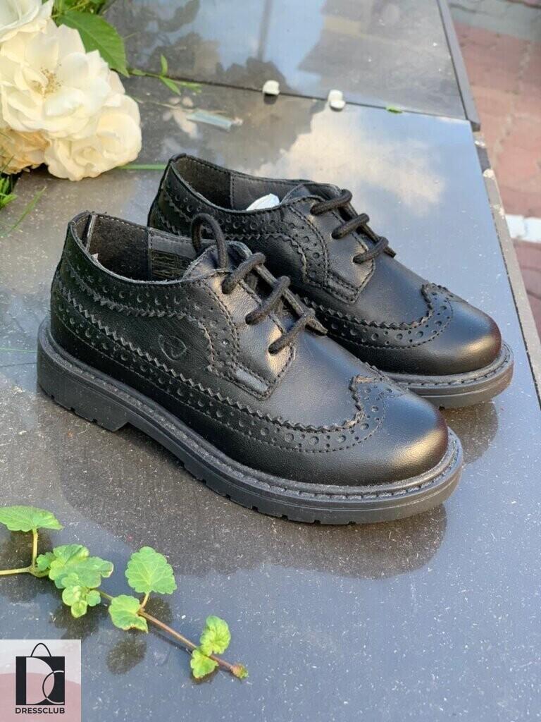 Naturino Albert Vitello туфли черные на шнурках