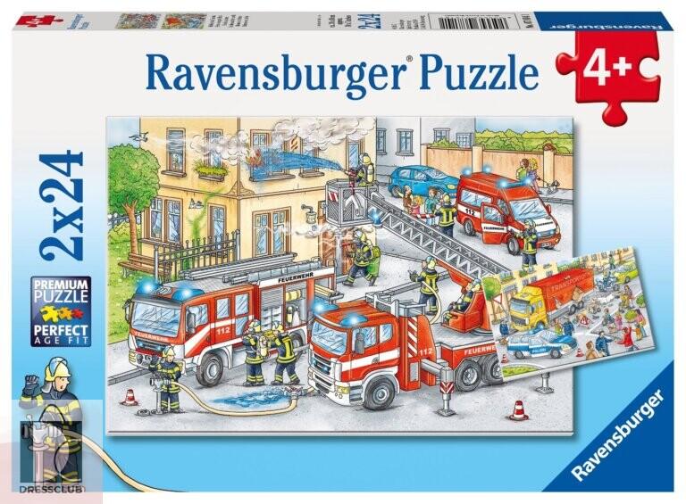 Набор пазлов Ravensburger «Герои в действии», 2х24 элемента