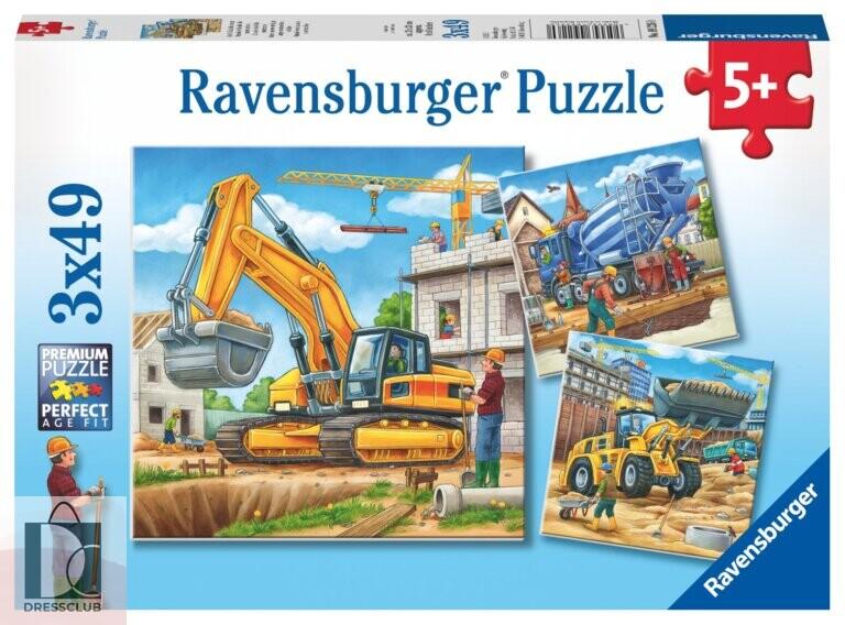 Набор пазлов Ravensburger «Большие строительные машины», 3х49 элемента