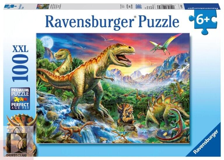 Пазл Ravensburger «У динозавров», 100 элементов
