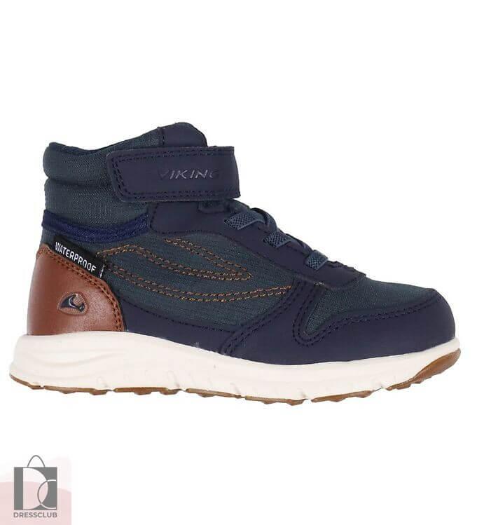 Viking Hovet Mid WP NAVY/COGNAC ботинки