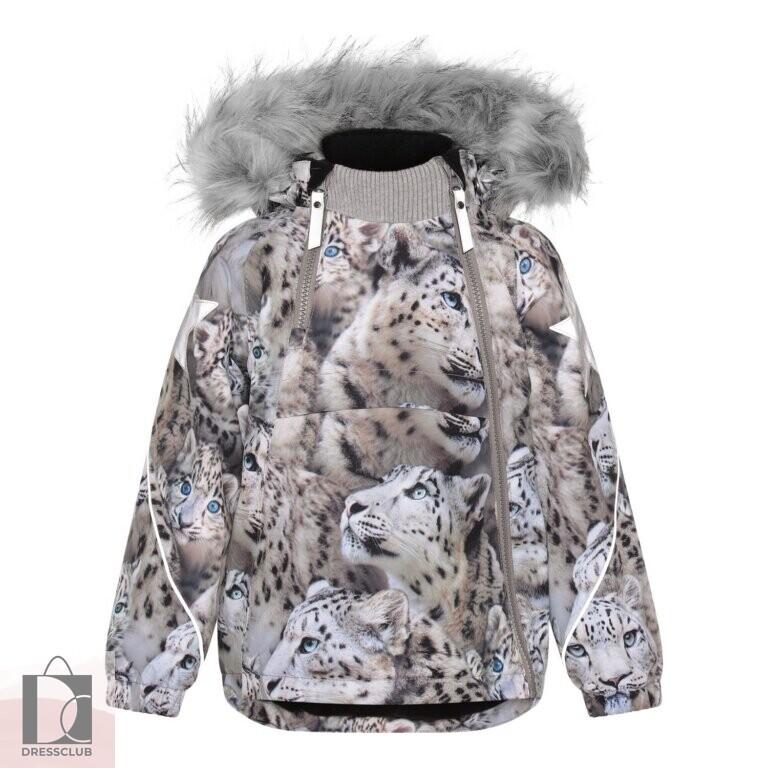 Molo Hopla Fur Snowy Leopards куртка