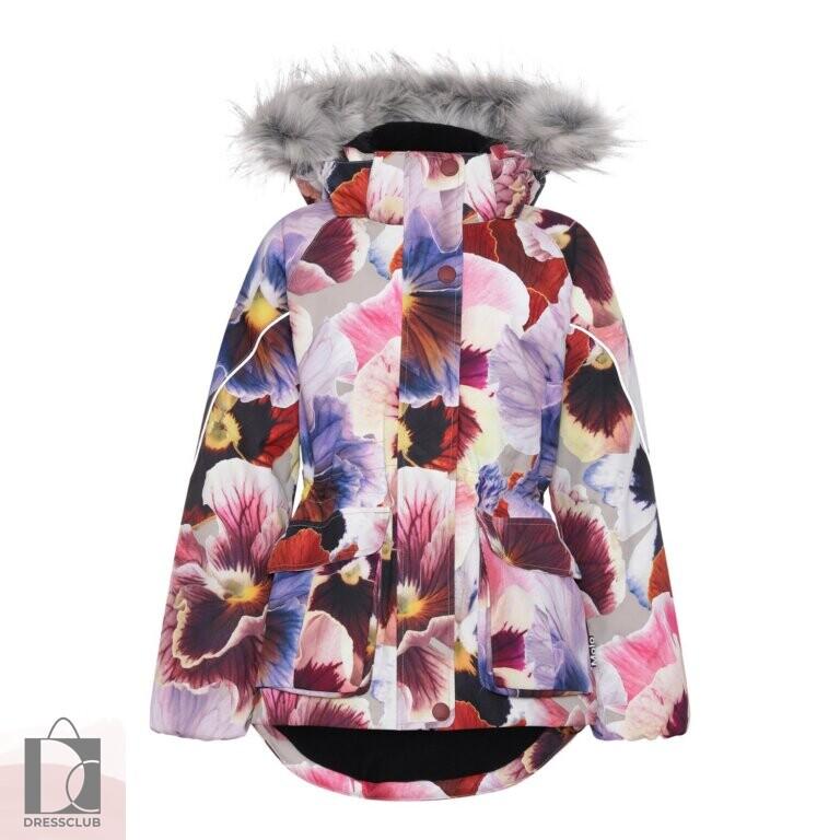 Molo Cathy Fur Giant Flowers куртка