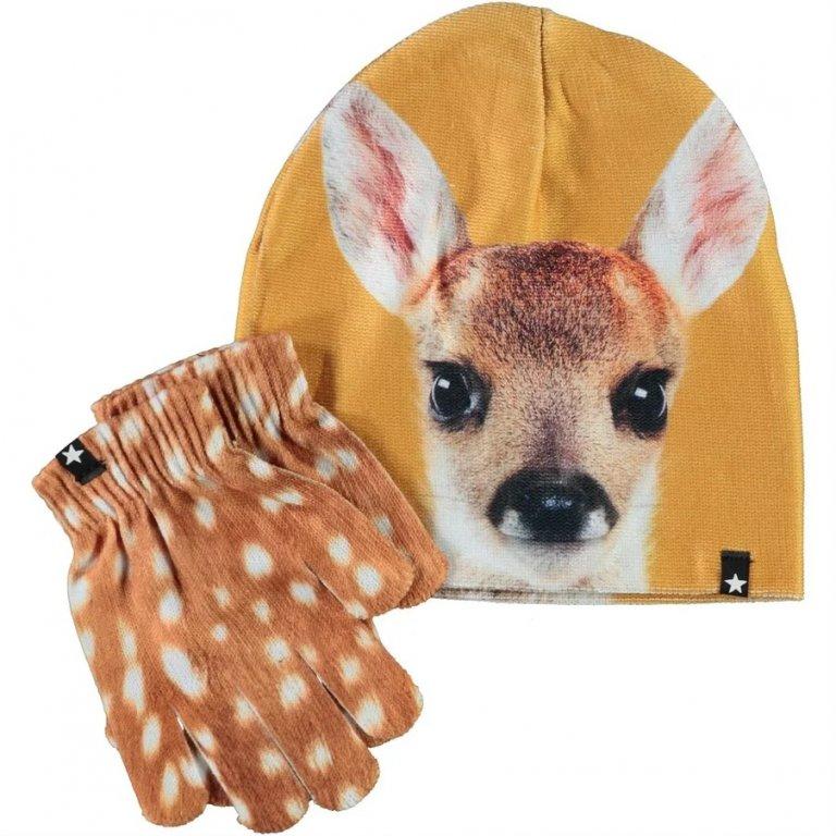 Molo Kaya Fawn Face шапка с перчатками