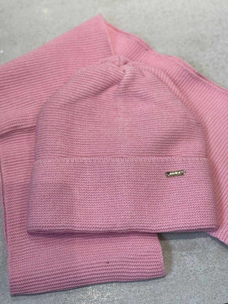 Комплект Синтия (шапка+снуд) розовый