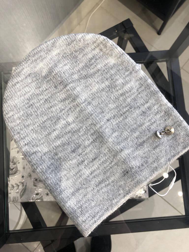 Шапка Нимфа светло-серый