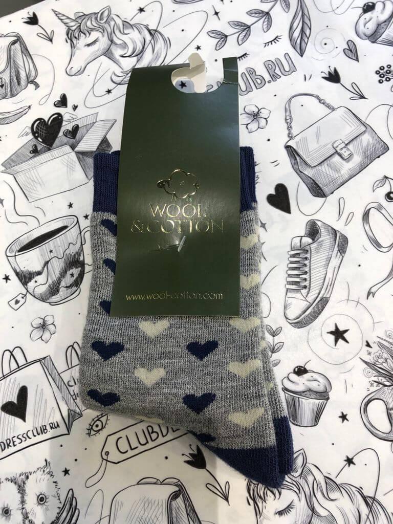 Wool&Cotton носки детские сердечки плюш