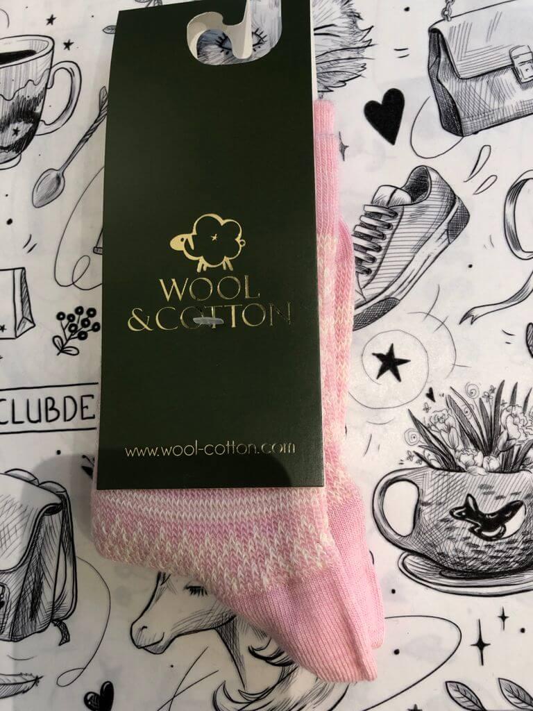 Wool&Cotton носки детские розовый/снежинки