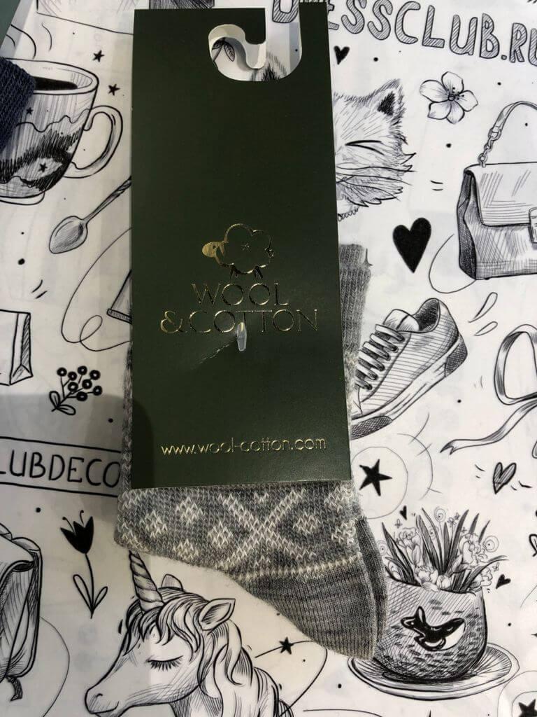 Wool&Cotton носки детские серый/снежинки
