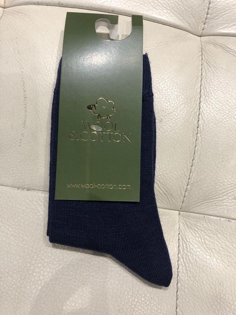 Wool&Cotton носки детские синий