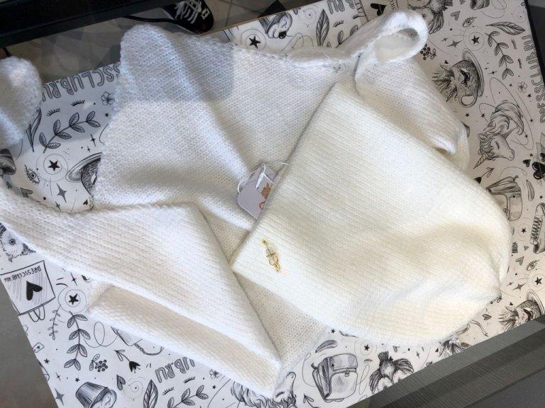 Комплект Фелиция (шапка+бактус) белый