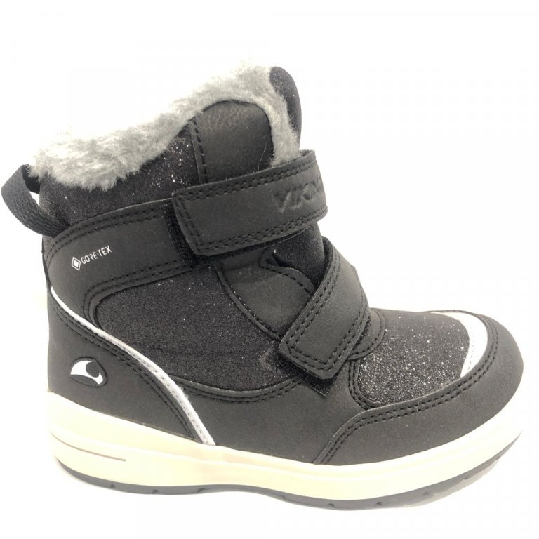 Viking Reflective and glittery winter Boots Hilma GTX Black (черный) ботинки