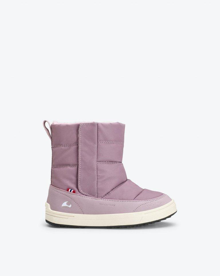 Viking Reflective slip on winter Boots Hoston R WP  Dusty Pink (сиреневый) полусапоги