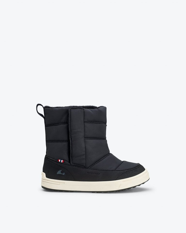 Viking Reflective slip on winter Boots Hoston R WP  Black (черный) полусапоги
